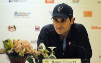 Фото: Getty Images. Роджер Федерер во время пресс-конференции в Куала-Лумпуре
