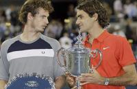 Фото: Imago. Энди Маррей и Роджер Федерер после финала US Open-2008