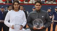 Фото: Imago. Победитель и финалист Masters Series Hamburg-2008 Рафаэль Надаль и Роджер Федерер