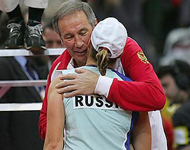 Фото: www.fedcup.com. Елена Дементьева и Шамиль Тарпищев