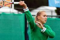 Фото: AFP/Getty Images. Елене Весниной не нашлось, что противопоставить мощной игре Серене Уильямс